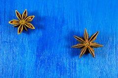 Anis de estrela no fundo de madeira Fotos de Stock Royalty Free