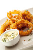 Anéis do Calamari Foto de Stock