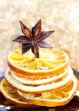 Anis et parts oranges image libre de droits