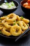 Anéis fritados do calamari Fotografia de Stock Royalty Free