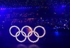Anéis olímpicos Fotos de Stock Royalty Free