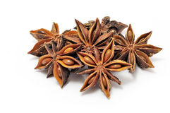Anis srars spice. On white background Stock Photography