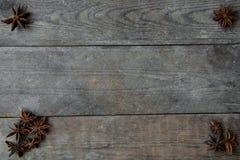 anis sur le fond en bois Images libres de droits