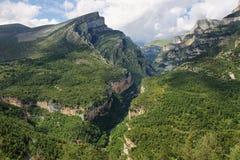 Anisclo jar w Ordesa parku narodowym, Hiszpania zdjęcia royalty free