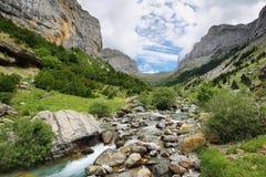 Anisclo jar w Ordesa parku narodowym, Hiszpania obrazy stock