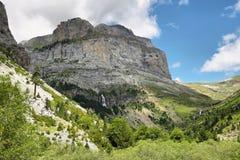 Anisclo jar w Ordesa parku narodowym, Hiszpania fotografia stock