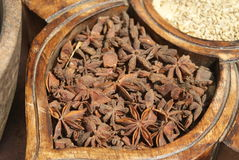 Anise. Dry anise seed in Cochin, south India stock photo