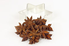 Anise amd cookie cutter Stock Images