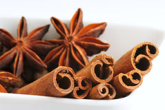 Anise and cinnamon - 2 Royalty Free Stock Images