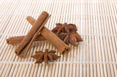 Anise with cinnamon Stock Photo