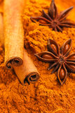 Anise and cinnamon Royalty Free Stock Images