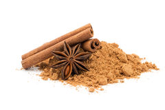 Anise and cinnamon Stock Image