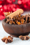 Anise and cinnamon in a bowl Stock Photo