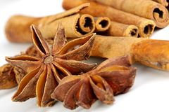 Anise with cinnamon Royalty Free Stock Images