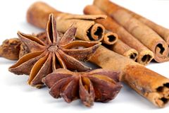 Anise with cinnamon Stock Photos
