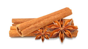Anise and cinnamon Royalty Free Stock Photo