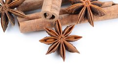 Anise on white background Stock Image