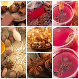 Anise collage Royalty Free Stock Image
