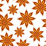 Anise. Seamless background. Stock Photos