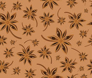 Anise seamless background pattern Royalty Free Stock Photography