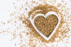 Anise Seeds in een Hartvorm stock foto