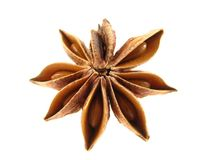 Anise star. On the white background royalty free stock photos