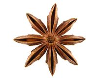 Anise star. On the white background Stock Photography