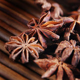 Anise star on bamboo Royalty Free Stock Image
