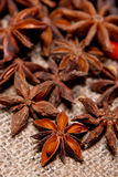 Anise star on bamboo Royalty Free Stock Photos