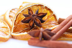 Anise star and food Royalty Free Stock Images