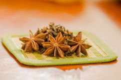 Anise star on a kitchen Stock Images