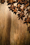 Anise star stars on table Stock Images