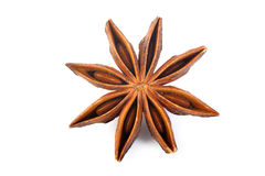 Anise star at on white background Stock Images