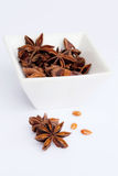 Anise stars in a bowl Royalty Free Stock Photography