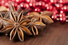 Anise stars in Christmas Royalty Free Stock Photo