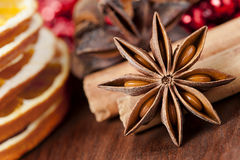Anise stars in Christmas Royalty Free Stock Photography
