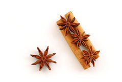 Anise stars and cinnamon spice Royalty Free Stock Image