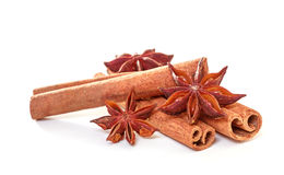 Anise stars and cinnamon Royalty Free Stock Photography