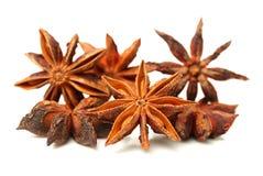 Anise stars. Close-ups of anise stars royalty free stock image