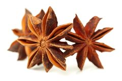 Anise stars. Close-ups of anise stars stock photos