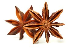 Anise stars. Close-ups of anise stars stock images