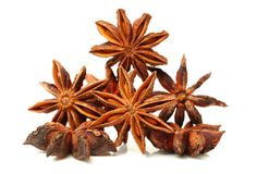 Anise stars. Close-ups of anise stars stock photography