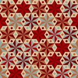 Anise stars pattern in warm colors Stock Image
