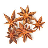 Anise stars on a white background Stock Photo