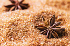 Anise and sugar Royalty Free Stock Images