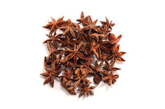 Anise-tree spice on white background Royalty Free Stock Image