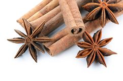 Anise  on white background Stock Images