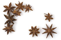 Aniseed. Isolated over a white background Stock Photos