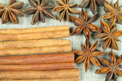 Aniseed and cinnamon Stock Photography