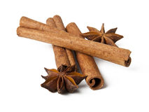 Aniseed and cinnamon Stock Photos